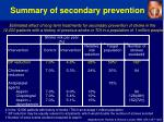 summary of secondary prevention