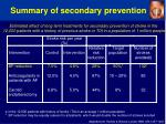 summary of secondary prevention19