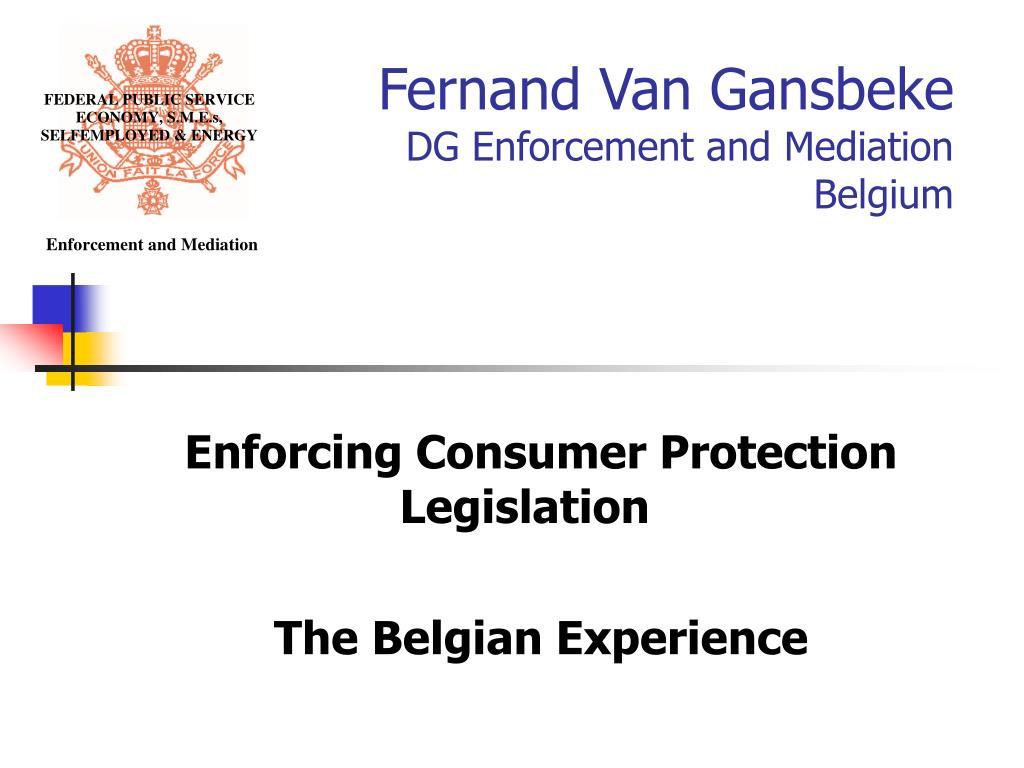 fernand van gansbeke dg enforcement and mediation belgium l.