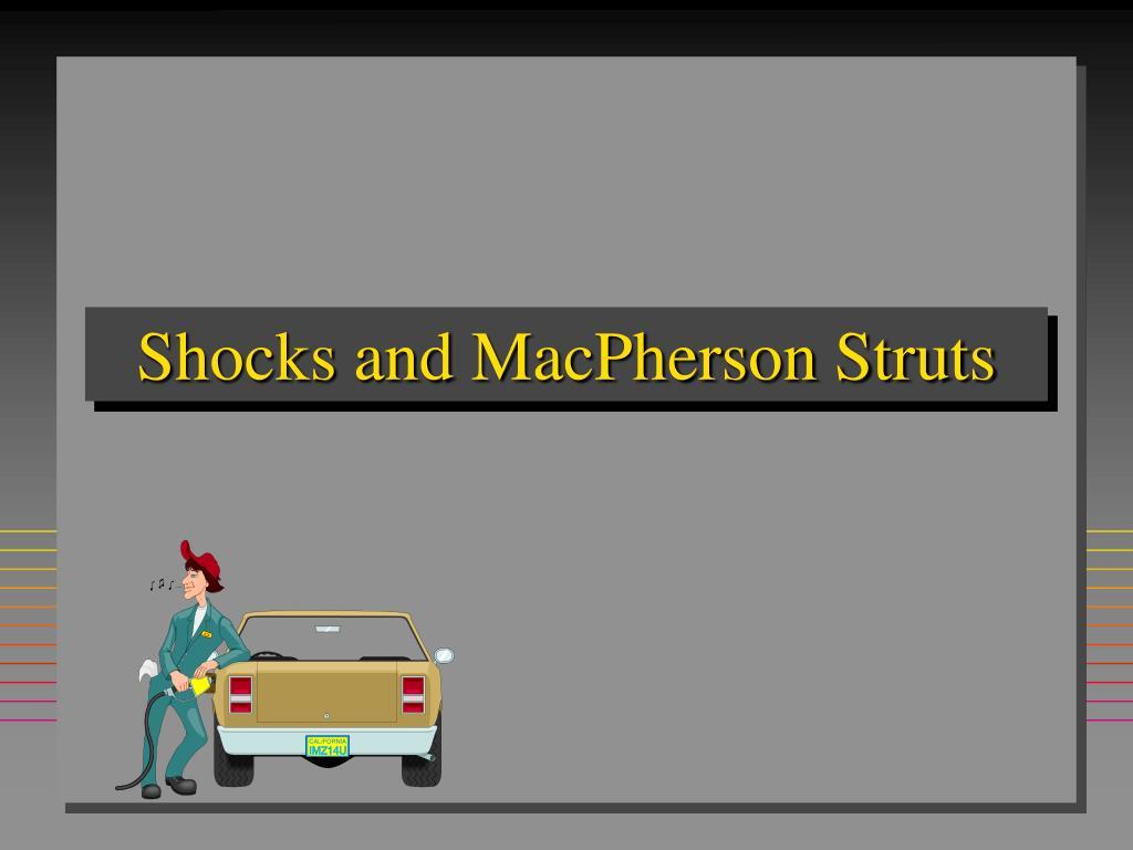 shocks and macpherson struts l.