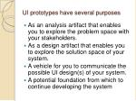 ui prototypes have several purposes