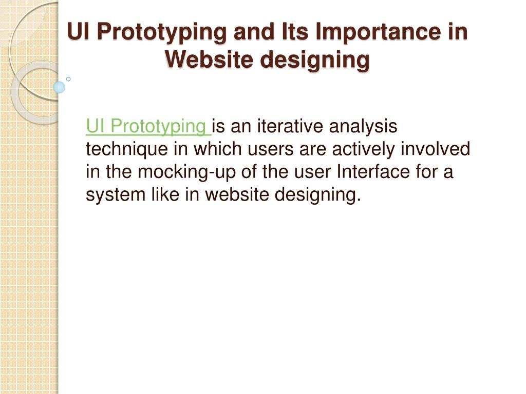ui prototyping and its importance in website designing l.