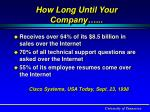 how long until your company