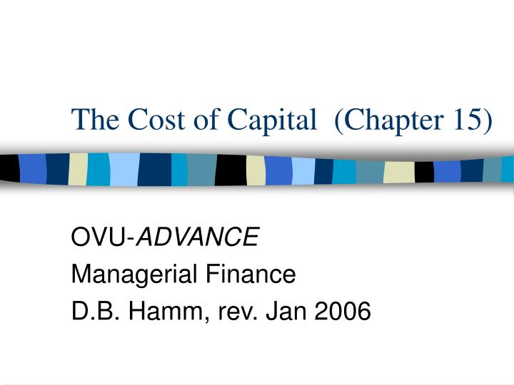 the cost of capital chapter 15 n.
