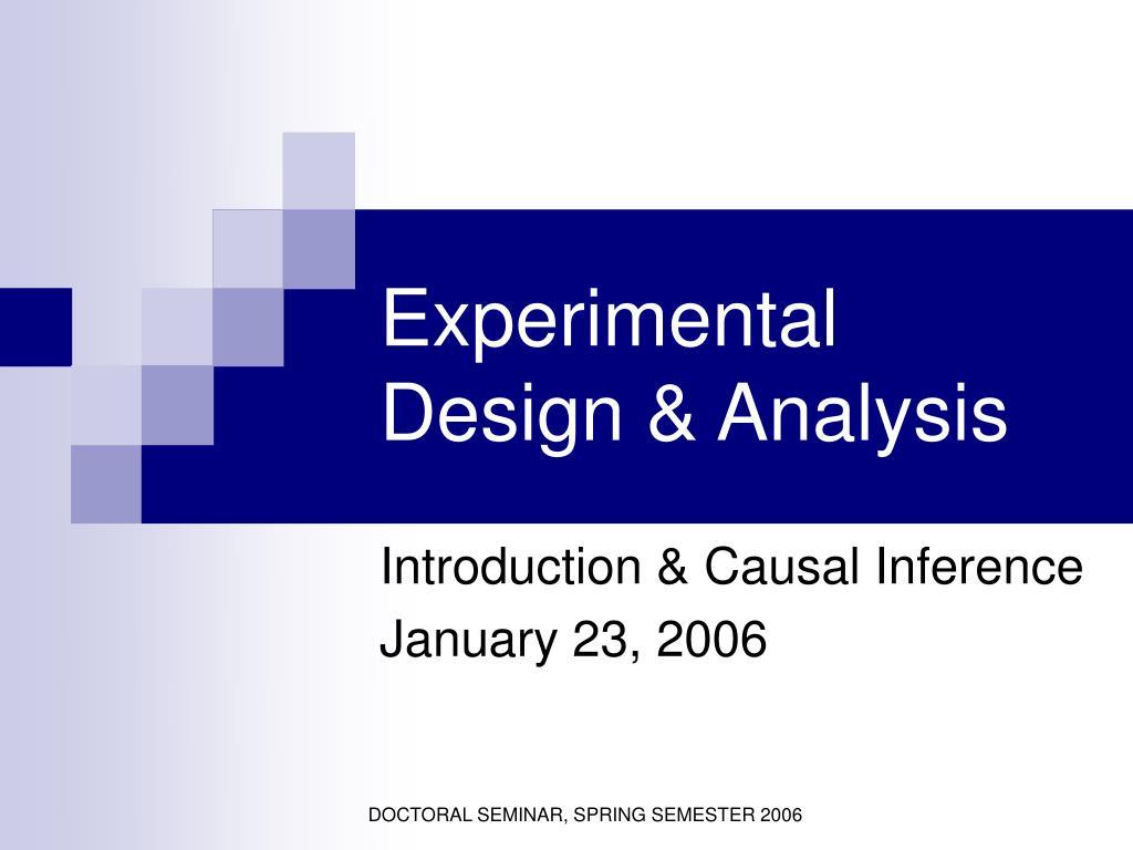 experimental design analysis l.