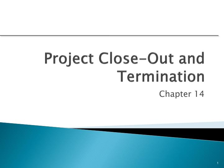 project close out and termination n.