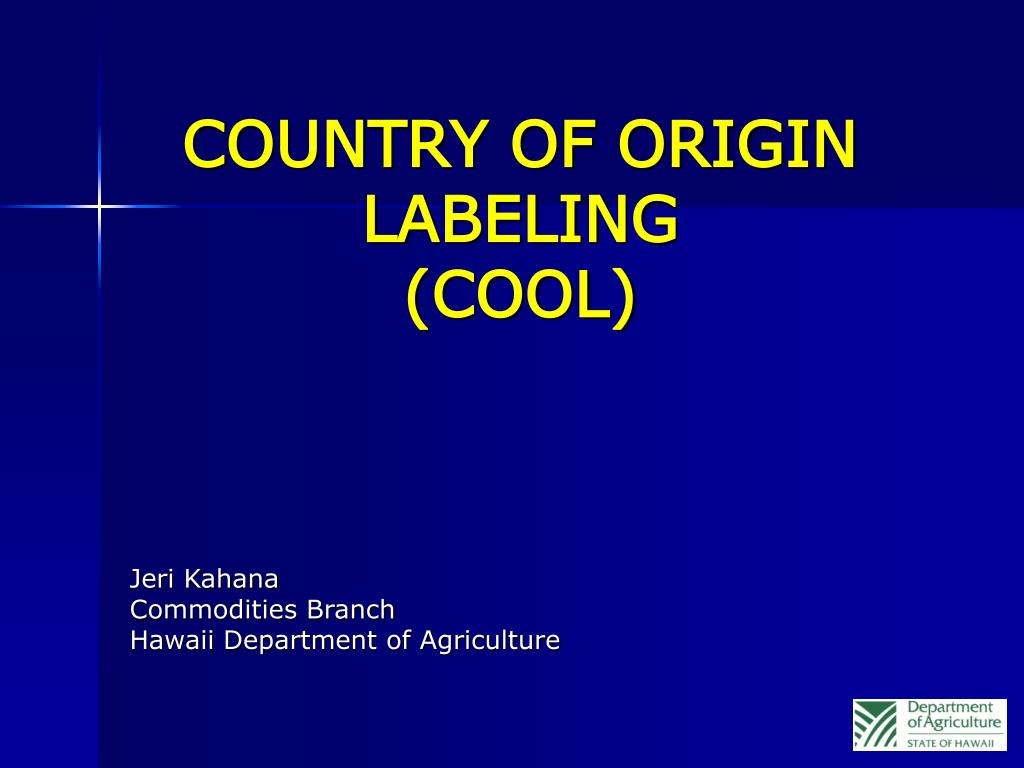 country of origin labeling cool l.