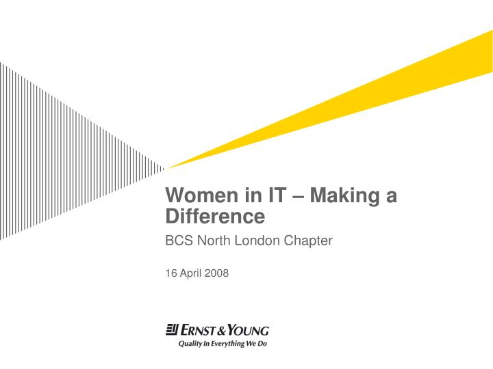 women in it making a difference n.
