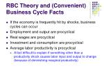 rbc theory and convenient business cycle facts
