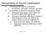 mechanisms of sound localization