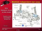multilink independent rear susp
