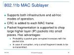 802 11b mac sublayer79