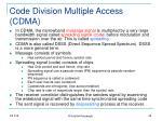 code division multiple access cdma