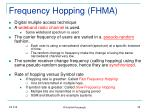frequency hopping fhma