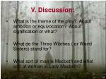 v discussion