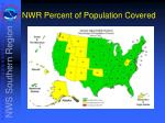 nwr percent of population covered