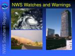 nws watches and warnings