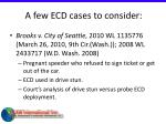 a few ecd cases to consider63