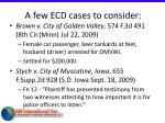 a few ecd cases to consider66