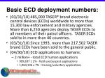 basic ecd deployment numbers