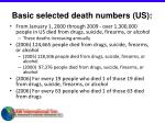 basic selected death numbers us