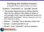 clarifying the graham factors immediate threat to safety of officers or others