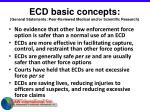 ecd basic concepts general statements peer reviewed medical and or scientific research