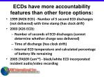 ecds have more accountability features than other force options