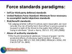 force standards paradigms