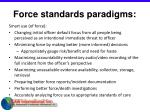 force standards paradigms23