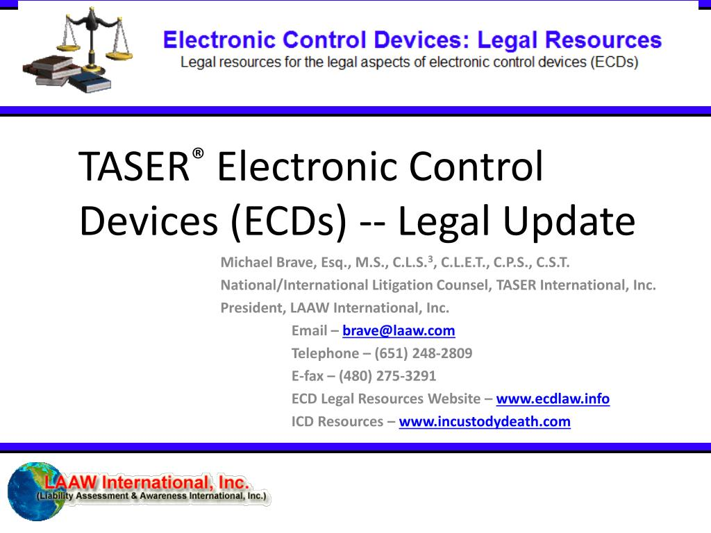 taser electronic control devices ecds legal update l.