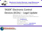 taser electronic control devices ecds legal update