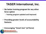 taser international inc