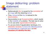 image deblurring problem statement