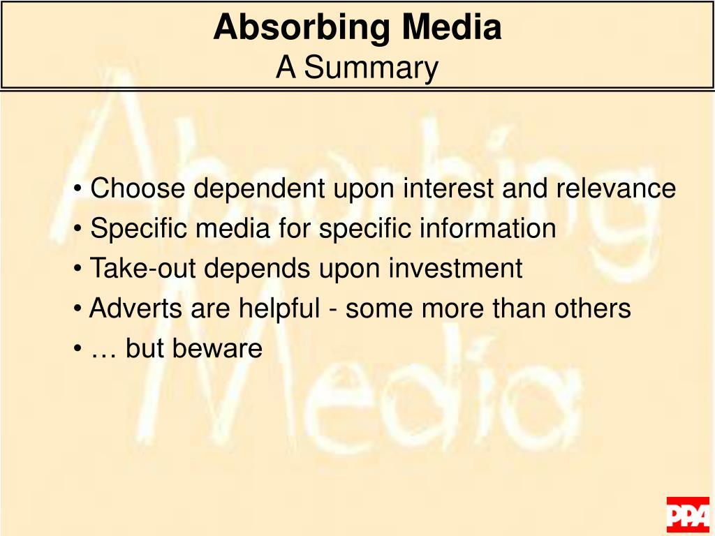 Absorbing Media