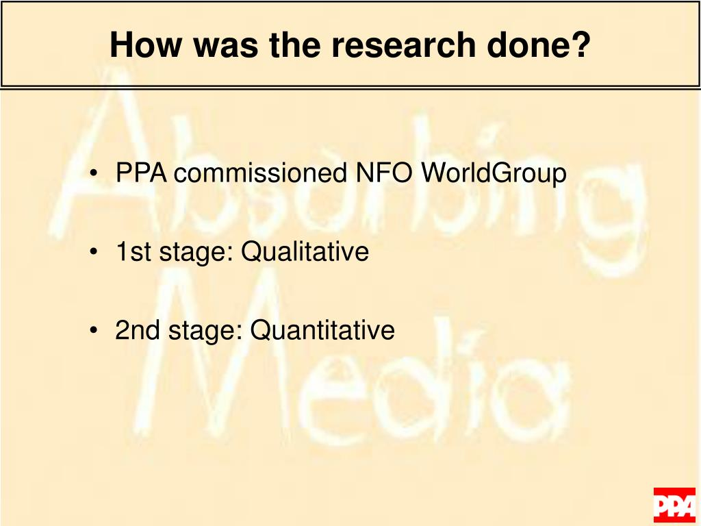 How was the research done?