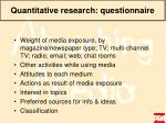 quantitative research questionnaire