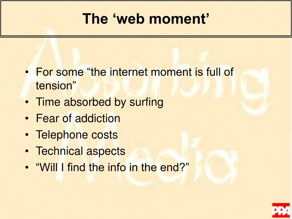 The 'web moment'