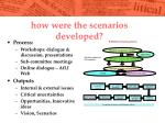 how were the scenarios developed