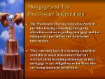 mortgage and tax foreclosure intervention