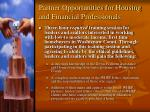partner opportunities for housing and financial professionals