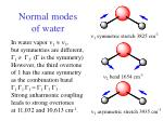 normal modes of water