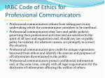 iabc code of ethics for professional communicators http www iabc com about code htm32