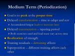 medium term periodization