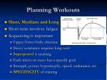 planning workouts