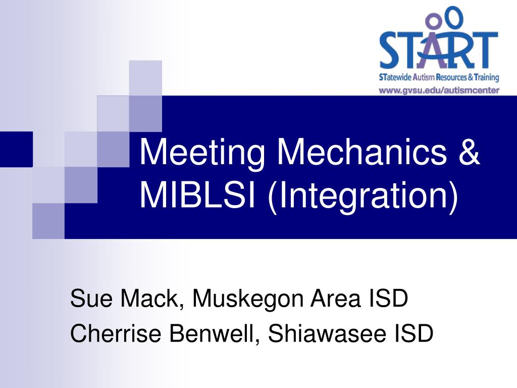 meeting mechanics miblsi integration l.