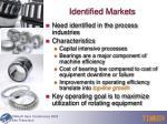 identified markets