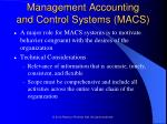 management accounting and control systems macs