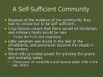 a self sufficient community