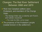 changes the red river settlement between 1860 and 187051